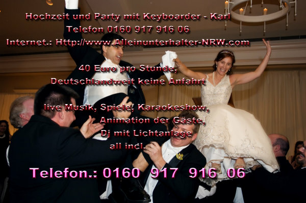 Hochzeit Heinsberg mit Alleinunterhalter Keyboarder Karl